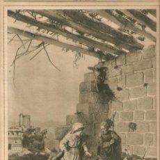 Coleccionismo: AÑOS 30 RECORTE PRENSA FIGURAS PESEBRE BELEN PUEBLO ESPAÑOL VALENCIA LOTERIA NARANJAS CANALS . Lote 51684889