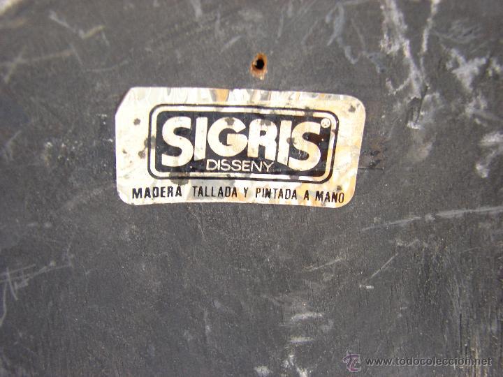 Coleccionismo: MASCARA DE MADERA TALLADA Y POLICROMADA. SIGRIS DISSENY - Foto 4 - 51698223