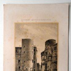 Coleccionismo: BARCELONA TORRES DE LA PLAZA NUEVA * DICCIONARIO GEOGRAFICO - ESTADISTICO. Lote 51714123