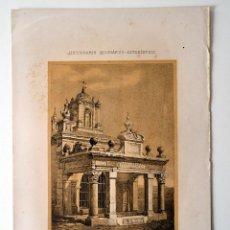 Coleccionismo: MERIDA TEMPLO DE MARTE * DICCIONARIO GEOGRAFICO - ESTADISTICO. Lote 51714651