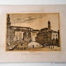 Coleccionismo: VITORIA ANTIGUA PLAZA DEL MENTIRON * DICCIONARIO GEOGRAFICO - ESTADISTICO. Lote 51714691