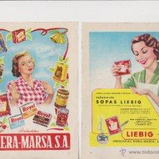 Coleccionismo: PUBLICIDAD SOPAS LIEBIG ROYAL TAPIOCA DE INDUSTRIAS RIERA MARSA SA. Lote 51800473