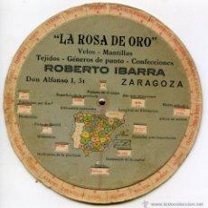 Collezionismo: DISCO GEOGRÁFICO DE ESPAÑA. LA ROSA DE ORO, CONFECCIONES, ZARAGOZA, GEOGRAFÍA. Lote 51802513