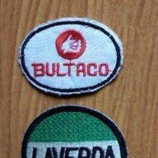 Coleccionismo: LOTE 2 PARCHES MOTOS PARA ROPA - LAVERDA, BULTACO. Lote 81640271