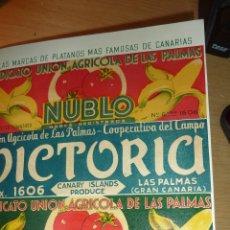 Coleccionismo: PRECIOSO ALBUM FOTO PLATANERO PLATANO UNION AGRICOLA LAS PALMAS GRAN CANARIA 4 ETIQUETA FOTOS 1952. Lote 142441125