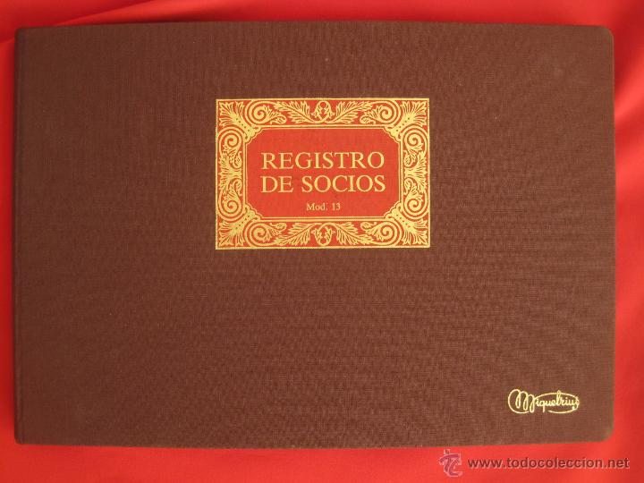 LIBRO MAYOR --REGISTRO DE SOCIOS--SIN USO GRANDE CUADERNO LIBROS CONTABILIDAD EMPRESA (Coleccionismo - Varios)