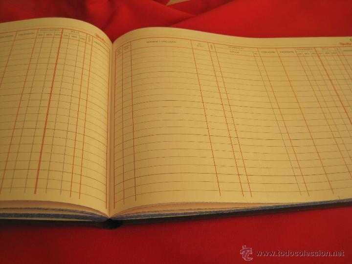 Coleccionismo: LIBRO MAYOR --REGISTRO DE SOCIOS--SIN USO GRANDE cuaderno libros contabilidad empresa - Foto 3 - 52167393
