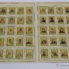 Coleccionismo: 46 CROMOS DE CAJAS DE CERILLAS (SERIE 24) PAPEL GRUESO, PEGADOS SOBRE HOJAS, LOS CROMOS MIDEN 4,5 X . Lote 52169251