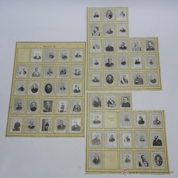 61 CROMOS DE CAJAS DE CERILLAS (SERIE 10) PAPEL GRUESO, PEGADOS SOBRE HOJAS, LOS CROMOS MIDEN 4,5 X (Coleccionismo - Objetos para Fumar - Otros)