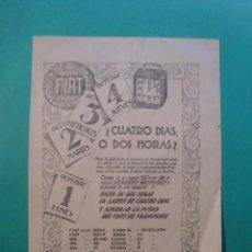 Coleccionismo: FIAT LISTADO DE PRECIOS DE CHASSIS Y SPA - FIAT HISPANIA S.A. - 29/10/1927. Lote 52281378