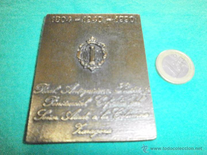 Coleccionismo: placa de metal semana santa cofradia del señor atado a la columna zaragoza firmada j.calero - Foto 2 - 52311559