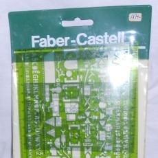 Coleccionismo: PLANTILLA DE DIBUJO PARA INSTALACIONES SANITARIAS FABER-CASTELL. Lote 52319233