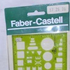 Coleccionismo: PLANTILLA DE DIBUJO FABER-CASTELL. Lote 52319282