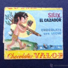 Coleccionismo: ENVOLTORIO ETIQUETA BOMBON BOMBONES CHOCOLATES VALOR SILIX EL CAZADOR AÑOS 60. Lote 54201478