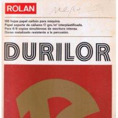 Coleccionismo: ROLAN DURILOR. 100 HOJAS PAPEL CARBÓN PARA MÁQUINA. (Z1). Lote 110546731
