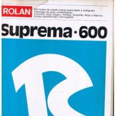Coleccionismo: ROLAN SUPREMA-600. 100 HOJAS PAPEL CALCAR PARA LÁPIZ Y BOLIGRAFO. (Z1). Lote 110546740