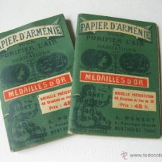 Coleccionismo: 2 LIBRILLOS DE PAPEL DE ARMENIA. PAPEL PERFUMADO. Lote 52515250