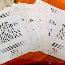 Collezionismo: CARICATURAS LOS MAESTROS DE LA MEDICINA ESPAÑOLA. Lote 52535494
