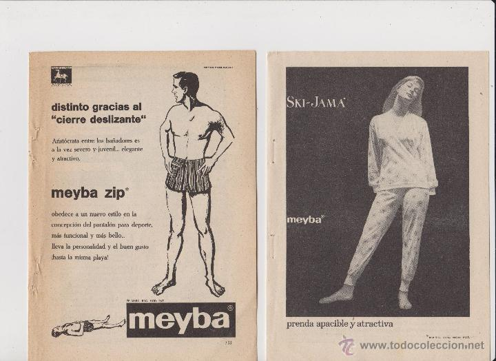 Coleccionismo: 2 anuncios publicidad ropa bañador y pijama de meyba - Foto 1 - 52557671