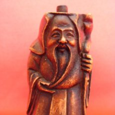 Coleccionismo: TABAQUERA CHINA O SNUFF BOTTLE DEL DIOS CHINO DE LA LONGEVIDAD SHOU XING. Lote 52560825