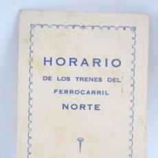 Collectionnisme: ANTIGUO HORARIO DE TRENES DEL FERROCARRIL NORTE. DESDE ENERO 1929 - SA ARMENGOL - 12,5 X 7,5 CM. Lote 52651066