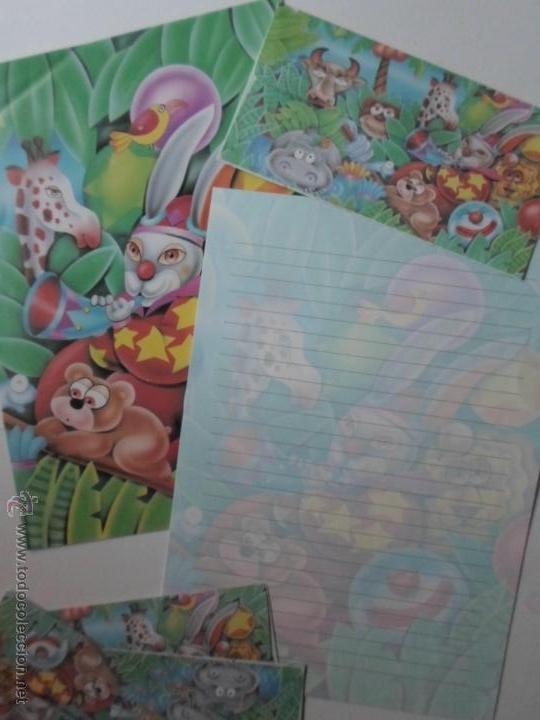 LOTE PAPEL DE CARTAS Y SOBRES - DIBUJOS INFANTILES (Coleccionismo - Laminas, Programas y Otros Documentos)