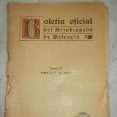 Collectionnisme: BOLETÍN ARZOBISPADO DE VALENCIA EPOCA II TOMO XLV N. 2264. I ENERO 1940.. Lote 52781237