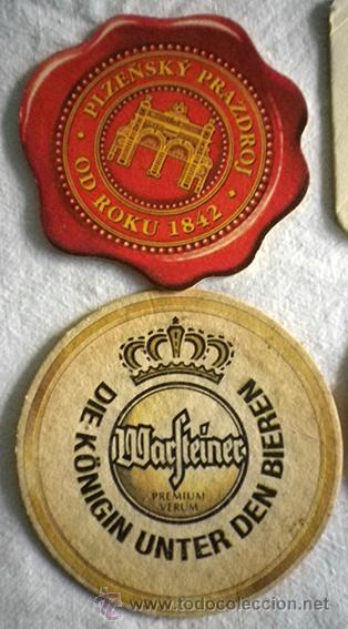 Coleccionismo: Lote 6 posavasos marcas bebidas coca cola cerveza - Foto 2 - 52893403