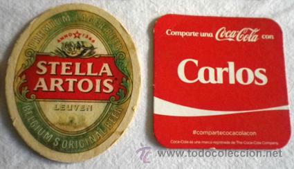 Coleccionismo: Lote 6 posavasos marcas bebidas coca cola cerveza - Foto 3 - 52893403