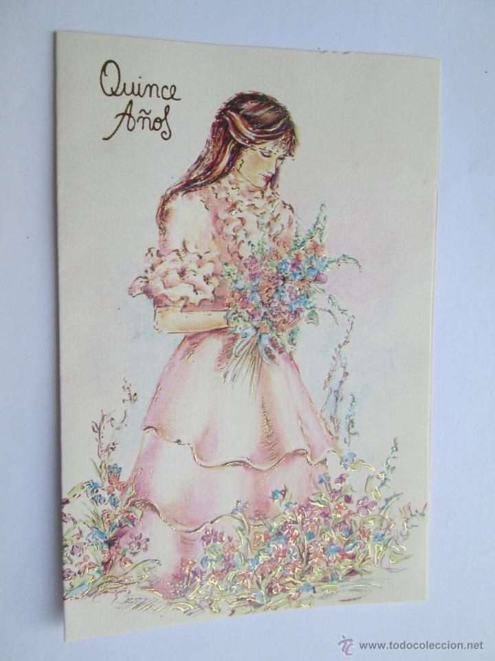Tarjeta Invitacion 15 Años Card Invitation 15 Years Carte D Invitation De 15 Ans 1991 Tamaño S