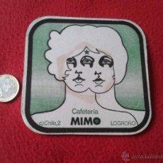 Coleccionismo: POSAVASOS COASTER TENGO MAS POSAVASOS VER LOTES CAFETERIA MIMO CALLA CHILE, 2 LOGROÑO LA RIOJA IDEAL. Lote 52914472