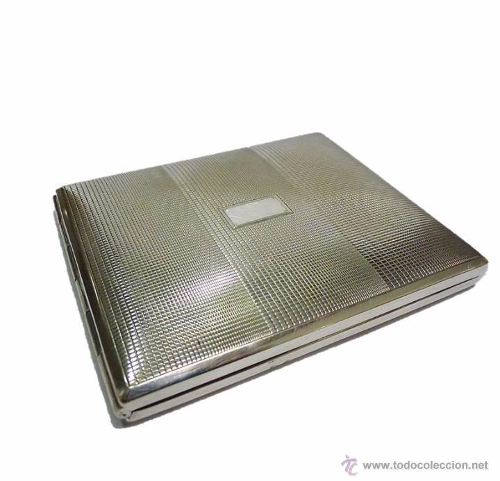 ANTIGUA PITILLERA EN METAL CROMADO-PRINCIPIOS S.XX (Coleccionismo - Objetos para Fumar - Otros)