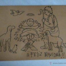 Coleccionismo: BALDOSA AZULEJO CON DIBUJO DE FELIZ NAVIDAD. Lote 52951454
