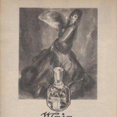 Coleccionismo: PUBLICIDAD PERFUME COLONIA MAJA DE MYRURGIA. Lote 135863923