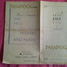 Collezionismo: PASAPOGA (MADRID). PROGRAMA DE GALA FIN DE AÑO. VARIEDADES. Lote 53021476