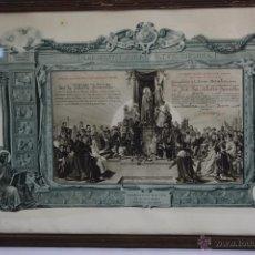 Coleccionismo: C-177. DIPLOMA ACTO DE CONSAGRACION A LA SANTISIMA VIRGEN. CONGREGACION DE NTRA. SRA. AÑO 1946.. Lote 53120482