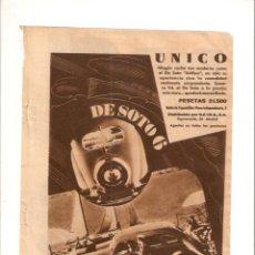 Coleccionismo: AÑO 1934 RECORTE PRENSA PUBLICIDAD COCHE DE SOTO AIRFLOW AUTOMOVIL AUTOMOVILISMO. Lote 53138595