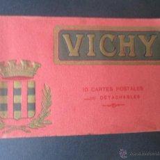 Coleccionismo: LIBRO DE 10 ANTIGUAS POSTALES DE VICHY FRANCIA MARQUE DEPOSEE . Lote 53183637