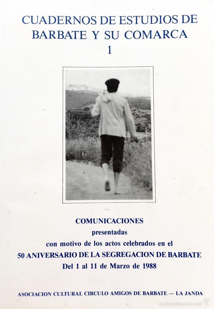 CUADERNOS DE ESTUDIOS DE BARBATE Y SU COMARCA 1 (Coleccionismo - Laminas, Programas y Otros Documentos)