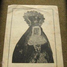 Coleccionismo: ARCOS FRONTERA CONVOCATORIA CULTOS 1946 - MARIA STMA. SOLEDAD Y SANTO ENTIERRO DE NTRO S. JESUCRISTO. Lote 53205267