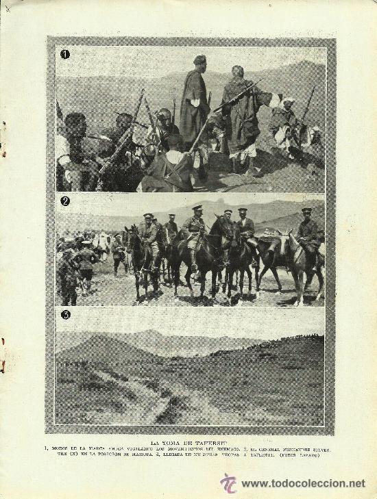 مجاهدون تفرسيت و جنرال إسباني وجنوده في تفرسيت 1920