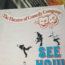 Coleccionismo: THE THEATRE OF COMEDY COMPANY. SEE HOW THEY RUN. SHAFTESBURY.1982. Lote 53282898