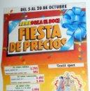 Coleccionismo: PUBLICIDAD ANTIGUA VINTAGE FOLLETO SUPERMERCADO ALCAMPO FIESTAS DEL PILAR ZARAGOZA 1984. Lote 53324643