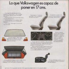 Coleccionismo: PUBLICIDAD AUTOMOVIL VW GOLF . Lote 71997530