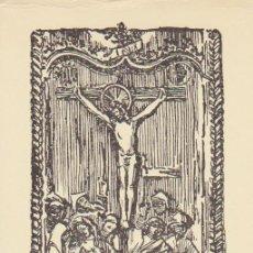 Coleccionismo: ESTAMPA CRUCIFIXIÓN - ORACIÓN EN CATALÁN BALEAR - SIGLO XX. Lote 53498952