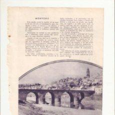 Coleccionismo: AÑO 1933 RECORTE PRENSA MONTORO PRIEGO DE CORDOBA FRANCISCO SALTO DOMINGUEZ MEDICO DE RUTE. Lote 53502853