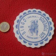 Coleccionismo: POSAVASOS COASTER BINGO LOS TOREROS CAVA BAJA 1 MADRID SPAIN TEMA TOROS BULLFIGHTING TAUROMAQUIA..... Lote 53526006