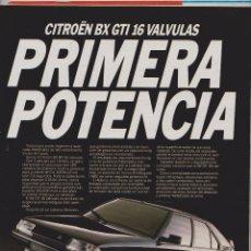 Coleccionismo: PUBLICIDAD AUTOMOVIL CITROEN BX GTI. Lote 61898154