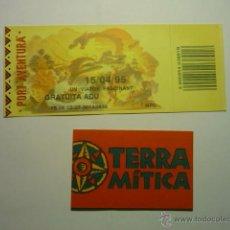 Collezionismo: LOTE ENTRADAS PARQUES ATRACCIONES ESPAÑOLES--PORT AVENTURA-TERRA MITICA. Lote 53558777