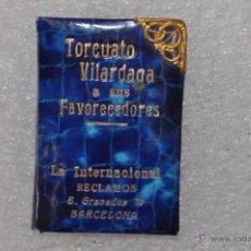 Coleccionismo: LIBRETA TIPO CARNET DE BAILE CON PUBLICIDAD TORCUATO VILARDAGA. Lote 53564076